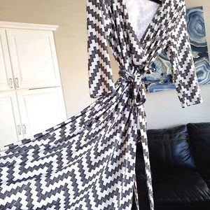 CHEVRON print Patty Boutik Faux Wrap Dress
